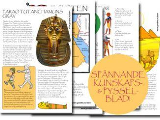 antika egypten pyssel
