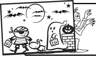 halloween målarbilder